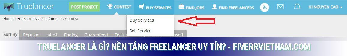 truelancer là gì - mua dịch vụ 1